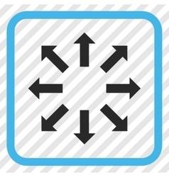 Explode arrows icon in a frame vector