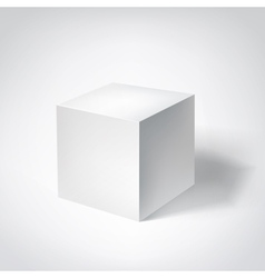 white 3d cube vector image