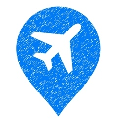 Airport Marker Grainy Texture Icon vector image