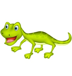 Cute lizard cartoon vector