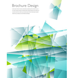 Modern business brochure cover template vector