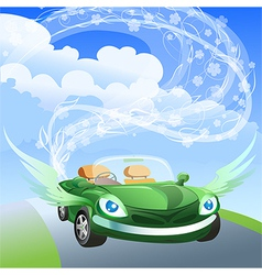 Environmentally friendly car vector