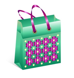 Shopping bag with spring motive vector