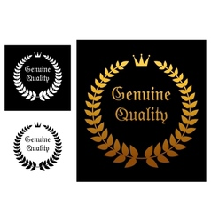 Genuine quality label vector