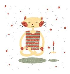 Children print funny cat yogi vector