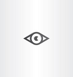 black eye design icon vector image