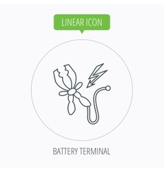 Terminal electrical icon charging the battery vector