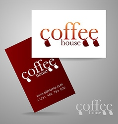 Coffee logo card vector