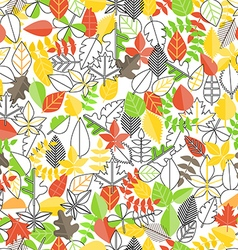 Different leaf collection seamless background vector