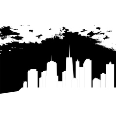 Cities silhouette vector