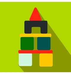 Children blocks flat icon vector