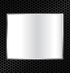 Abstract metal texture background with rectangle vector
