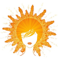 Abstract sunny woman vector image vector image