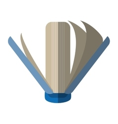 Book library learn school shadow vector