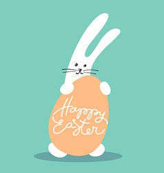 Bunny happy easter vector