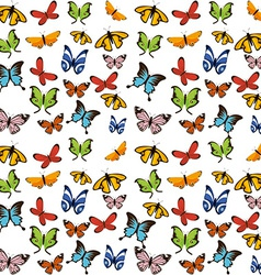 Butterflies flying vector