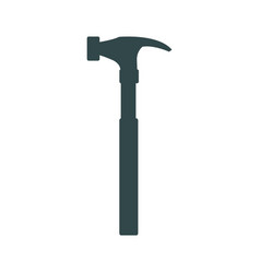 carpenter hammer tool construction element vector image