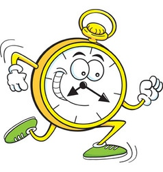 Cartoon running clock vector