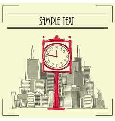 City clock vector image