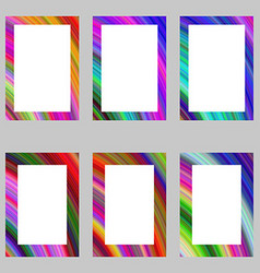 Colorful abstract digital art brochure frame set vector