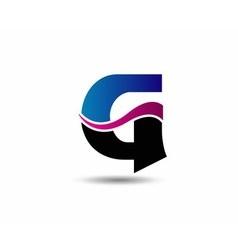 Corporate Logo G Letter company design temp vector image