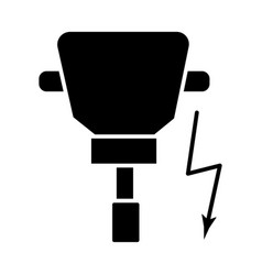 Driller icon black sign on vector