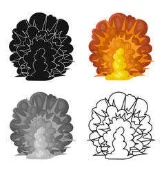 explosion icon in cartoon style isolated on white vector image