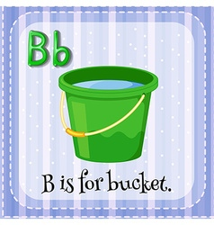 Flashcard letter b is for bucket vector