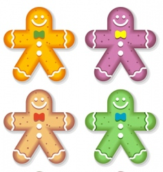 gingerbread men vector image vector image