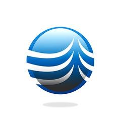 globe sphere communication business logo vector image vector image