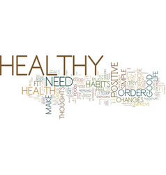 good healthy habits text background word cloud vector image