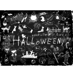 Halloween set of simple doodles vector image vector image