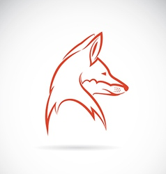 image of an fox head vector image