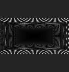 Infinite rectangular tunnel of shining vector