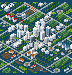 isometric 3d megapolis vector image vector image