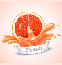 juicy grapefruit vector image