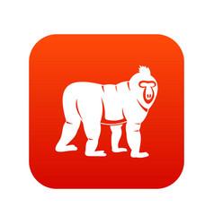 Mandrill monkey icon digital red vector