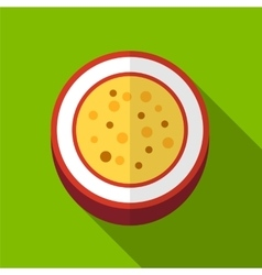 Passionfruit flat icon vector