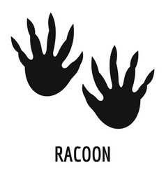 Racoon step icon simple style vector