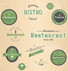 restaurant badge vector image vector image