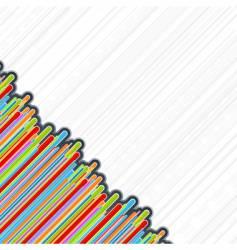 retro corner bars vector image