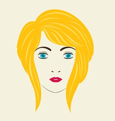Severe angled stacked bob woman hair style vector