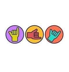 Shaka or hang loose sign gesture vector image