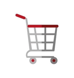 Shopping cart online delivery market color shadow vector