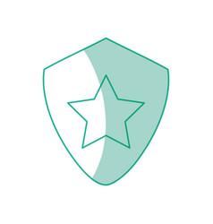 star on shield symbol vector image vector image