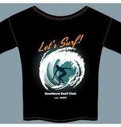 Surf club t-shirt template design vector