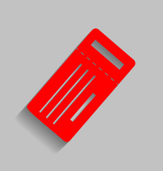 Ticket simple sign red icon with soft vector