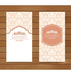 Vintage card design for greeting card vector image
