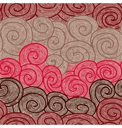 whorl seamless hand drawn pattern vector image