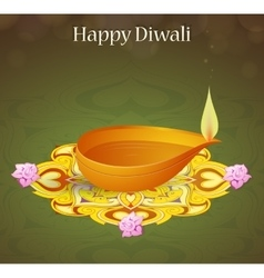 Diwali greeting card vector